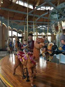 Mayor Sharon on Albany Carousel